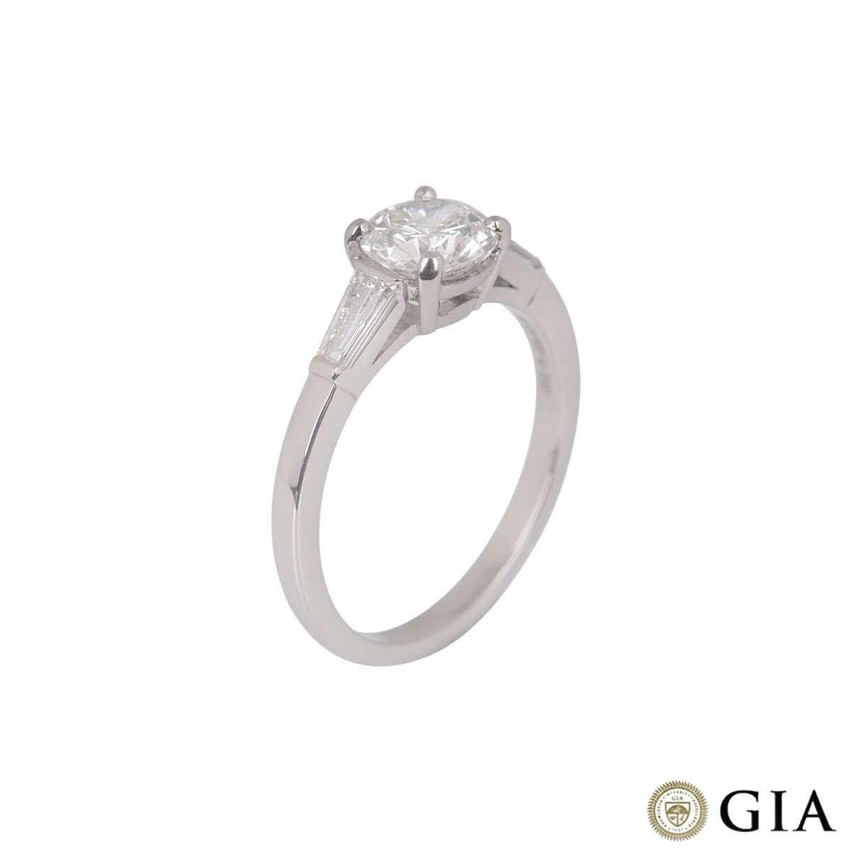 Round Brilliant Cut Diamond Ring in Platinum 1.00ct G/I1
